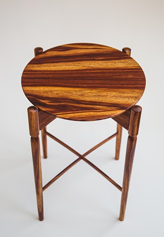 Padauk Turned Side Table