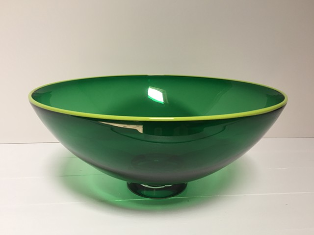 Small Green Transparent Bowl