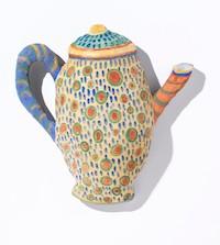 Barbara Sullivan buon fresco artist teapot Turtle Gallery Deer Isle Maine