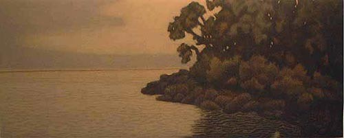 James Groleau printmaker prints mezzotint artist Blue Hill Meadow Turtle Gallery Deer Isle Maine