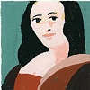 Mona, in the manner of Alex Katz