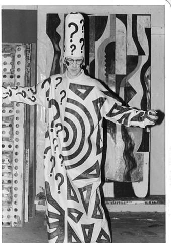 Studio assistant, black and white period, #1