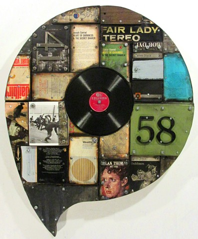 (book art) assemblage (Ottawa art) Gagne Schwitters Rauschenberg