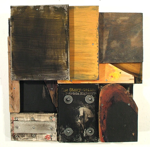 book art Patricia Highsmith collage assemblage