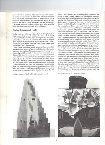 Article, The Interpretation of Architecture catalogue