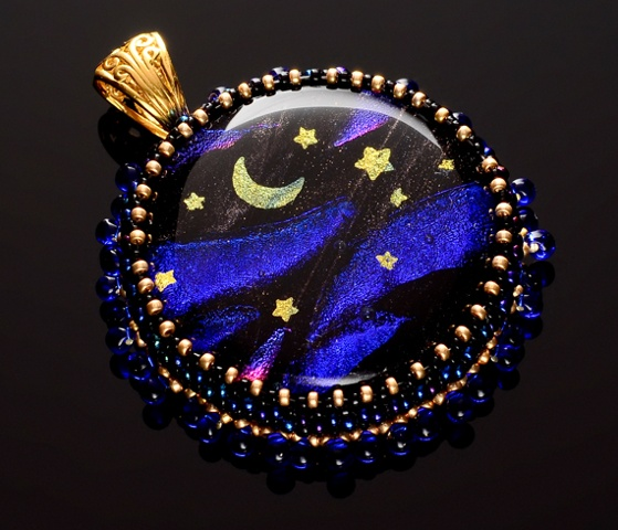 Glass & Gold Celestial Pendant