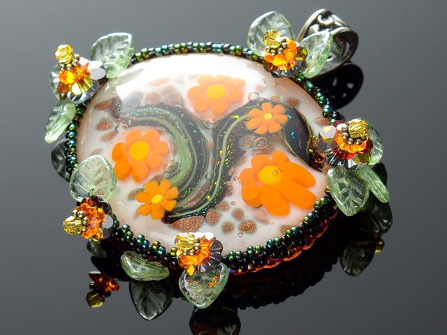 Tropical Glass Garden Pendant