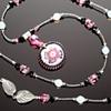 Pink Starburst Glass Necklace