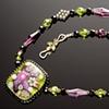 Olivine Glass Garden Necklace