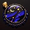 Glass & Gold Celestial Pendant