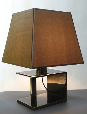Custom desk lamp with silk lamp shade for Visual Comfort and Circa Lighting