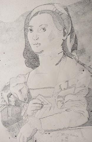 Untitled (Portrait Of A Lady by Jacopo Da Pontormo)