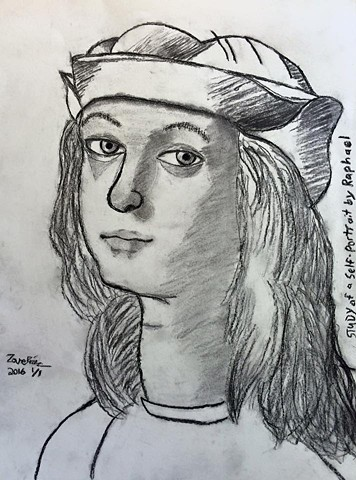 Study of a Self-Portrait by Raphael