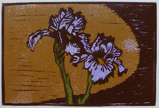 4-color block relief print on BFK Rives paper