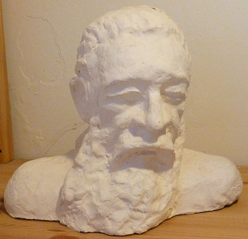 Plaster casting of clay original made at Gage Academy in Seattle