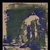 Pinhole Screenprint Green with Blue
