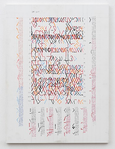 contemporary painting, text art, conceptual art, geometric painting, color, grid, diagrammatic, mapping, color structure, pattern, found language, systems, rules