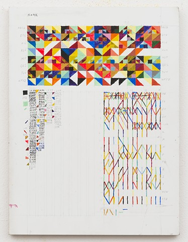 contemporary painting, text art, conceptual art, geometric painting, color, grid, diagrammatic, mapping, color structure, pattern, found language, systems, rules, Minus Space