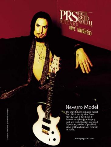 DAVE NAVARRO prs guitars