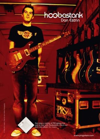 HOOBASTANK prs guitars