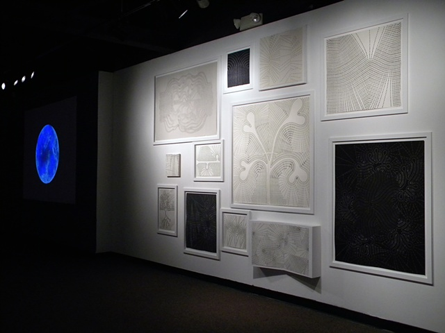 foreground, Twelve Drawings, background, Lunar Eclipse