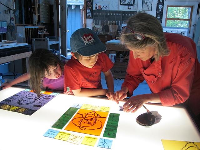 Family Stained Glass Workshops in Vermont (near Western Massachusetts)