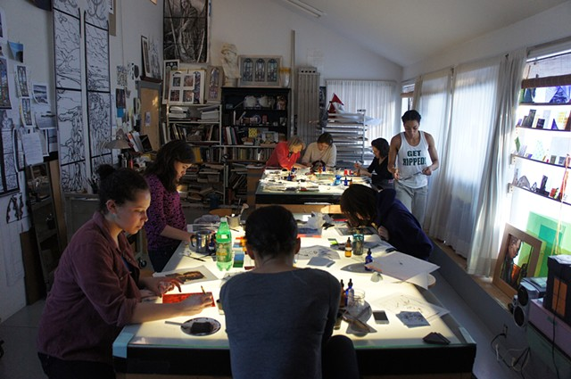 Stained glass workshops for artists and families, from beginners to advanced glasspainters