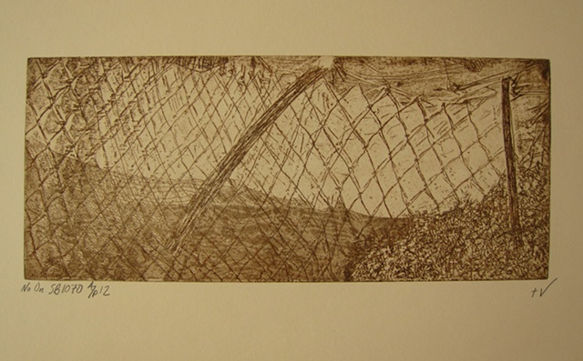 No on S.B. 1070 Intaglio print on Rives BFK