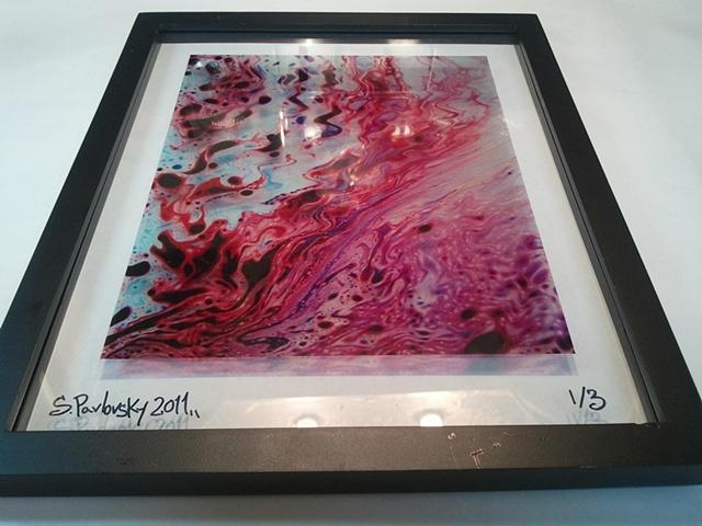 """River Fire"" Framed Transparency"