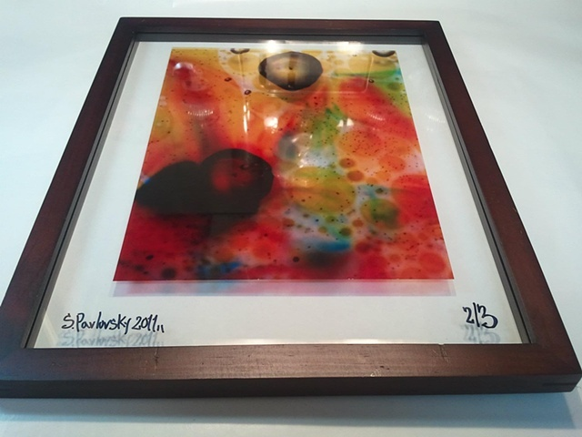 """Rainbow"" Framed Transparency"