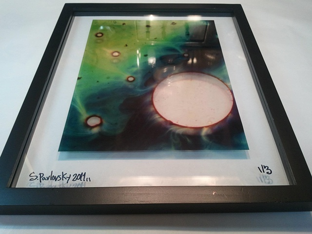 """Green Galaxy"" Framed Transparency"