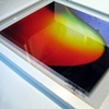 "White ""Rainbow Nebula"" Framed Transparency"