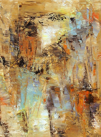 Abstract, oil on canvas.