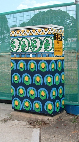 traffic control box. public art.