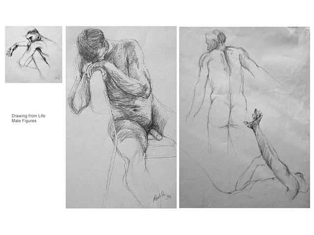 3 male lifedrawings