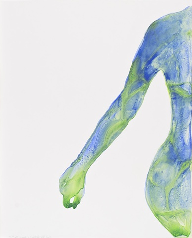 Self-Portrait in Green and Blue, #19