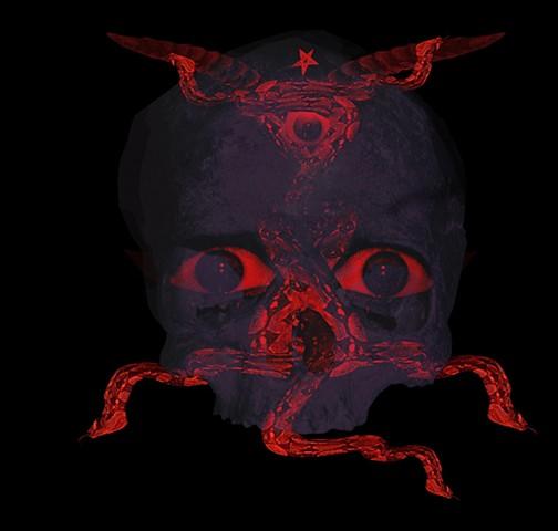 made for Kenneth Anger  Technicolor skull album