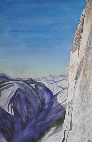 Kishen on El Cap Climb
