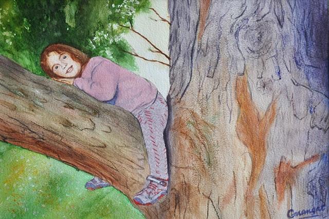 Zoe on a Tree Limb