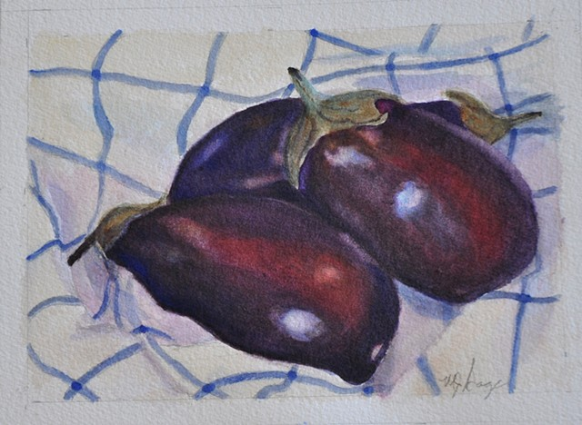 Eggplants  by Mary Jo Sage