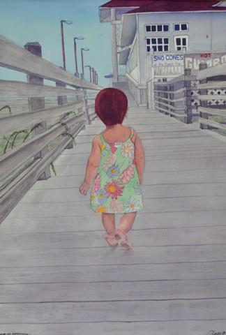 Zoe on the Boardwalk
