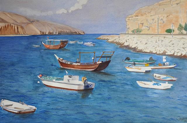 Fishing Village, Mussandam, Oman