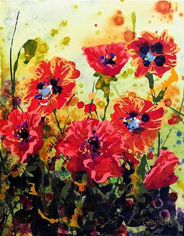 flowers of spring green poppies cool day  laura gammons #lauragammonsstudios laura gammons @lauragammons #camplaura #lauragammons