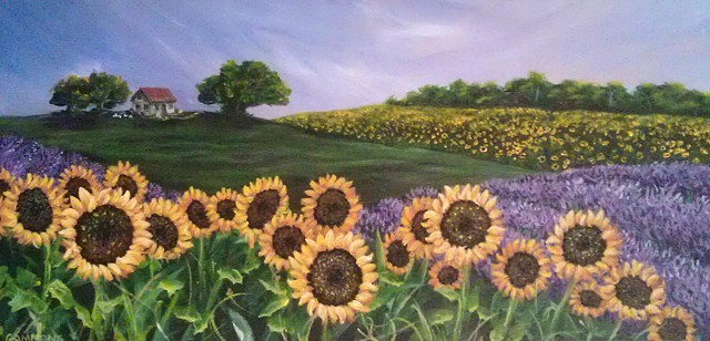 van gogh sunflowers ducks lavender field europe sunrise laura gammons lauragammons.com #lauragammonsstudios