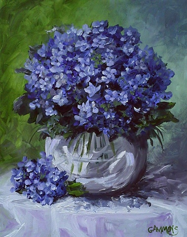blue, glass, tablecloth, flowers, spring, southern