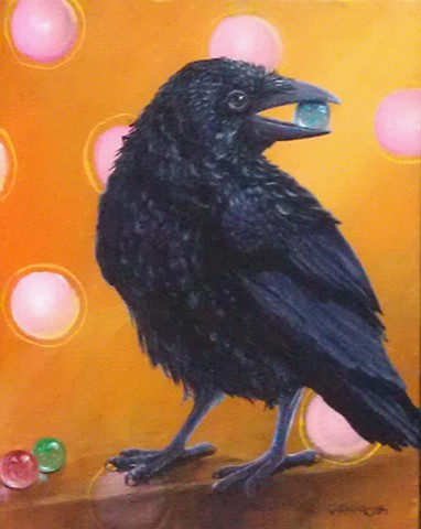 poe raven crow blackbird beatles marbles black