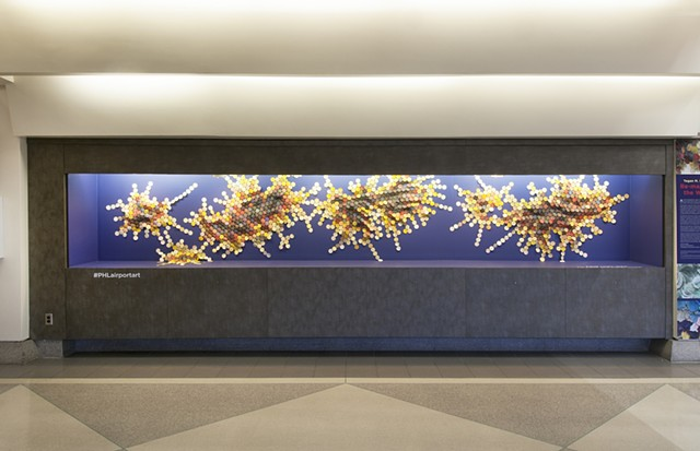 Installation View of Fault Lines (Philadelphia International Airport)