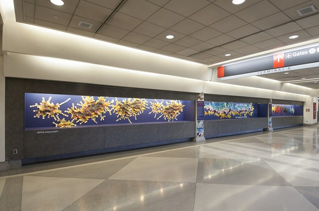 """Re-mapping the World,"" Philadelphia International Airport (2014-15)"