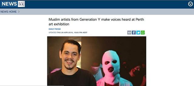 ABC News - Muslim artists from Generation Y make voices heard at Perth art exhibition