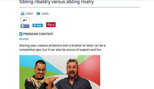 Arts Hub - Sibling ribaldry versus sibling rivalry
